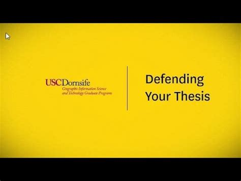 How to defend thesis statement